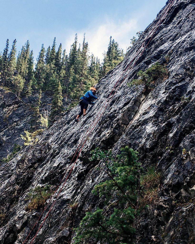 Yamnuska Rock Climbing Karlaroundtheworld