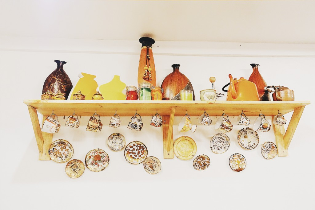 Tea set collection decoration