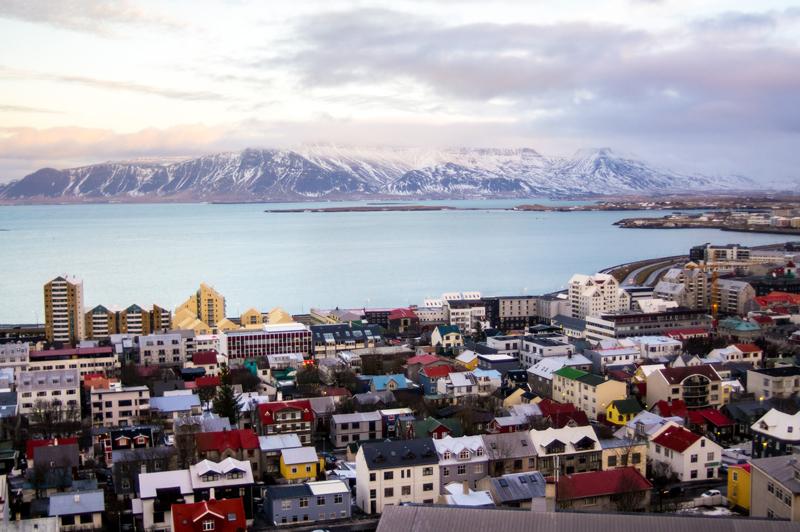 Reykjavik with Mount Esja Karlaroundtheworld