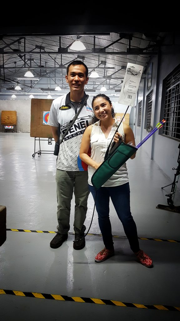 With Coach Earl Yap and my brand-new equipment!