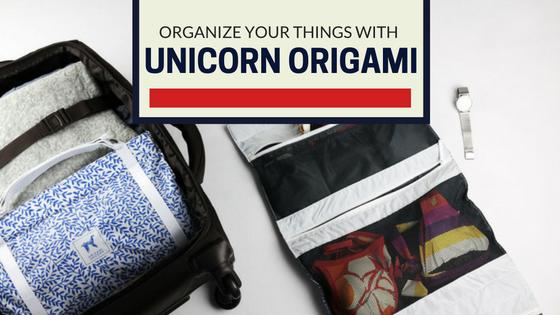 Origami Unicorn Travel Organizer