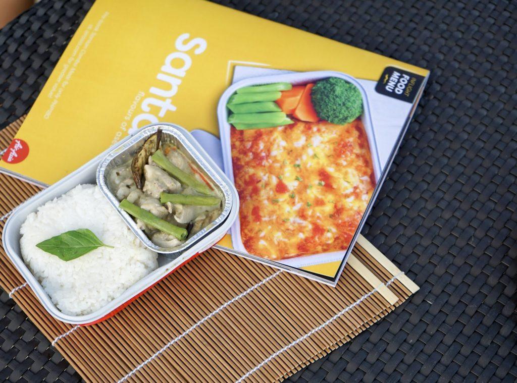 Airasia santan in flight menu karla around the world for Airasia japanese cuisine