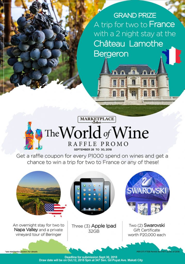 World of Wine Raffle Poster