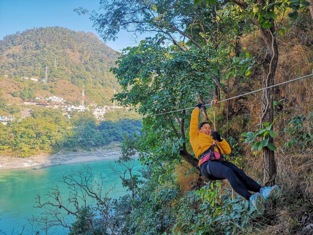 Ziplining in Uttarakhand