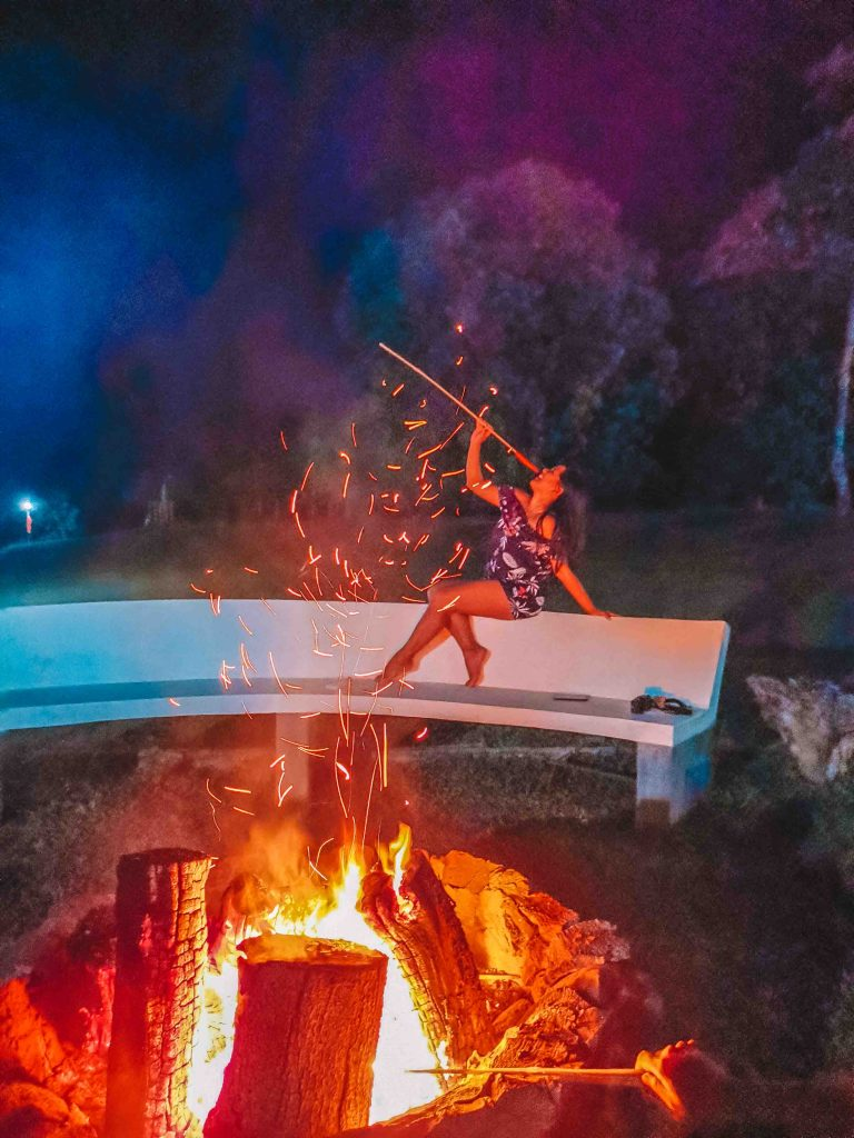 Bonfire at Mountain Lake Resort