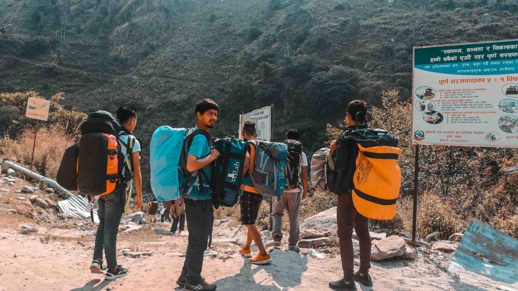 Langtang trek porters