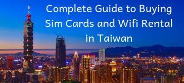 Buying Sim Cards in Taiwan