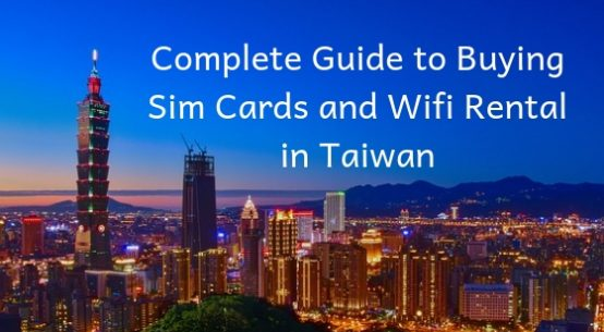Buying Sim Cards in Taiwan