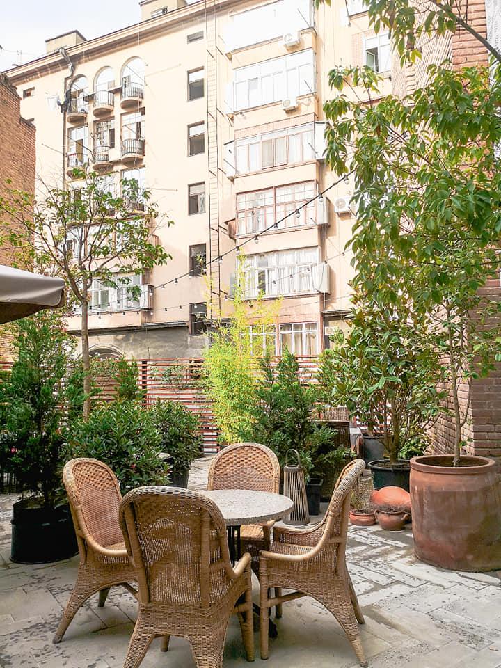 G Vino WIne Hotel Courtyard