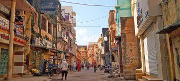 Instagrammable Spots in Gandhi Circuit Gujarat India - Kasturba Road Porbandar Market